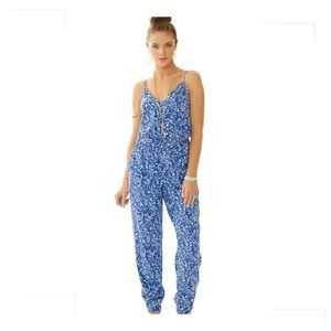 Lilly Pulitzer Melba Jumpsuit Chasing Tails Print